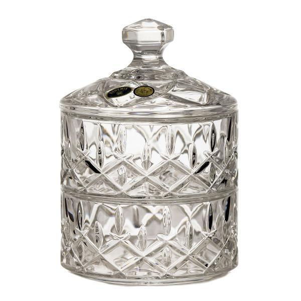 Bomboniera din cristal de Bohemia cu capac model SheffieldCutie clasica inscriptionata BohemiaProdusele au marcajul de autenticitate Bohemia