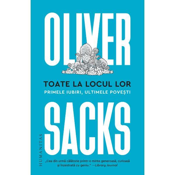 Oliver Sacks îmbin&259; în mod inimitabil în&539;elepciunea &537;i senin&259;tatea memoriilor intime cu relat&259;rile cazurilor clinice excep&539;ionale în sine dar cu care ne învecin&259;m poate mai frecvent decât ne-am închipui Rezult&259; un caleidoscop de eseuri foarte personale în parte inedite pove&537;ti pline de culoare despre pasiunea lui Sacks pentru înot ferigi c&259;r&539;i sau elementele chimice despre