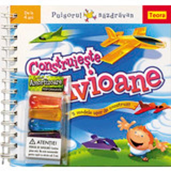 Seria Puisorul nazdravan - Construieste avioane- 5 modele usor de construit- pentru copii peste 4 ani