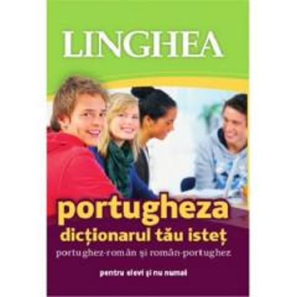 Acestea este un dictionar realizat in primul rand pentru elevii si studentii care studiaza limba portugheza dar si profesorilor Cuvintele-titlu sensurile si traducerile cuprind portugheza folosita in mod curent si traduceri in limbajul oficial si colocvialCuprinde30 000 de cuvinte-titluTranscriere fonetica8 500 de exemple expresii si fraze72 000 de traduceri68 de pagini cu teme de conversatie legate de scoala si nu numai190 de note