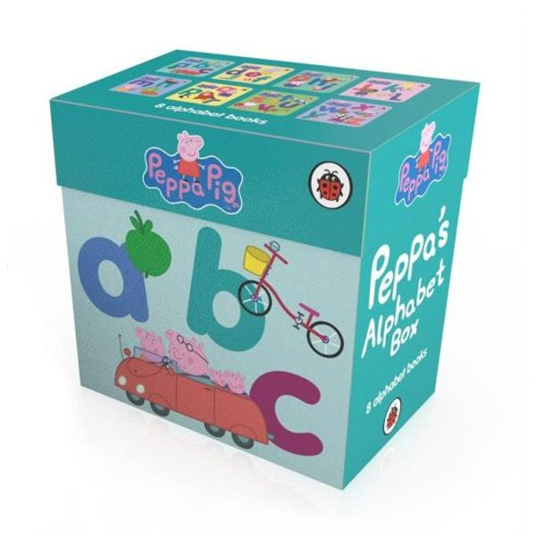 Learn your ABC with Peppa in this colourful board book boxset - a first concept book perfect for the very youngest Peppa Pig fan With simple text and pictures this chunky book is perfect for little hands