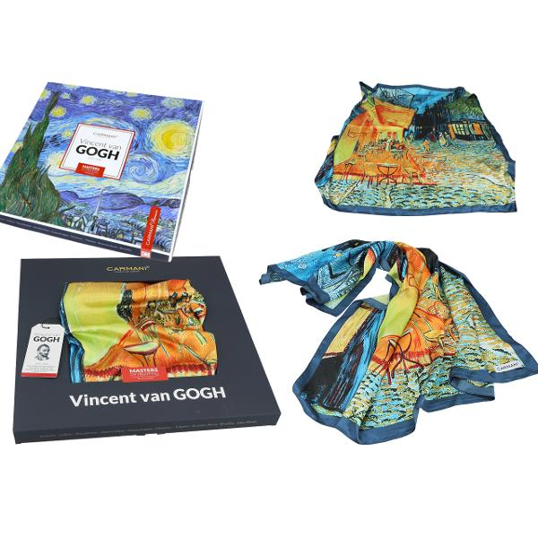 Esarfa Van Gogh cafe at night 90x90cm 0239022