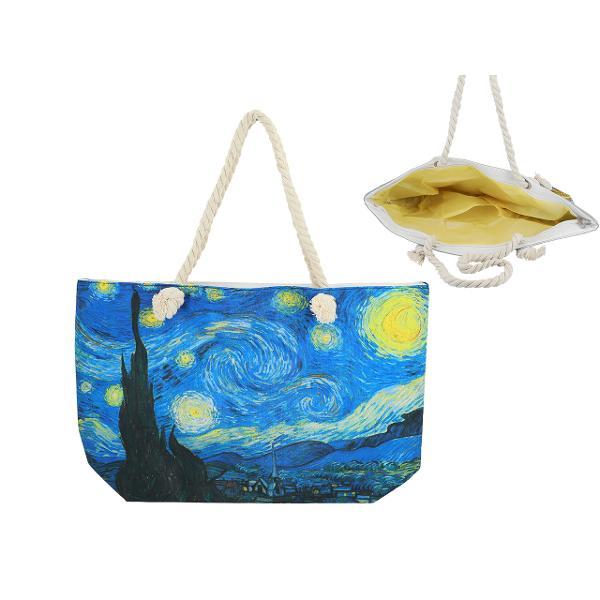 Geanta plaja Van Gogh noapte instelata 56x37cm 0219211