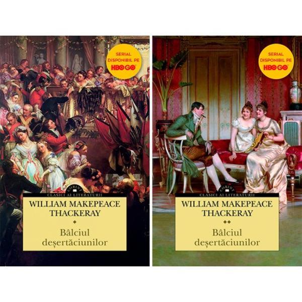 """Inovator la vremea sa devenit ast&259;zi un reper al literaturii clasice &537;i considerat capodopera scriitoruluiBâlciul de&537;ert&259;ciunilorreprezint&259; o satir&259; social&259; a c&259;rei ac&539;iune se petrece în timpul R&259;zboaielor Napoleoniene Având subtitlul """"Un roman f&259;r&259; erou"""" nara&539;iunea urm&259;re&537;te destinul a dou&259; tinere antagoniste amorala Becky Sharp una dintre cele mai"""