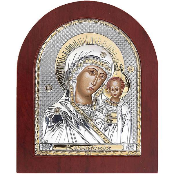 Icoana argintata Maica Domnului Kazan Este ambalata intr-o cutie de cadou ce contine elemente de protectie pentru transport in siguranta