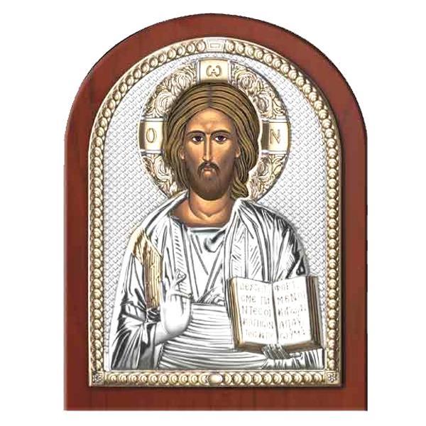 Iisus Hristos Icoana Argint 75x11cm Cutie de cadou inclusa