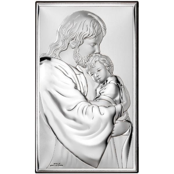 Icoana Argint Isus pentru Botez 9×15 cm