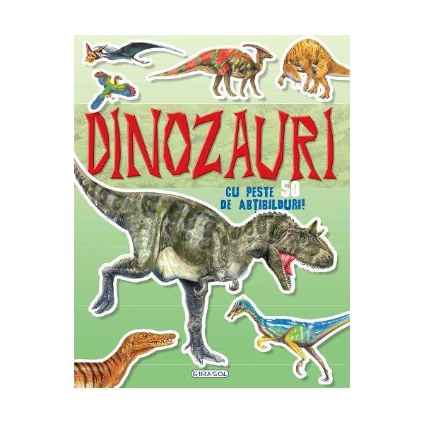 Cauta si lipeste DinozauriCu aceasta carte vei pasi in frumoasa lume a dinozaurilorCauta abtibildurile si completeaza ilustratiileCartea are peste 50 de abtibilduri
