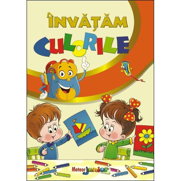 O carte frumos ilustrata cu ajutorul careia copilul poate invata culorile intr-un mod distractivrecunoscandu-le in desenele cartii side asemenea poate exersa desenand si colorand in spatiile special concepute