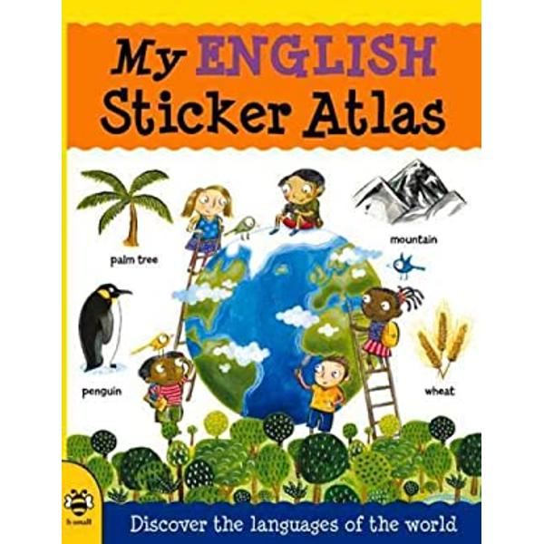 SynopsisA fun language-learning sticker activity atlasLearn about the world and its languages while learning English too Colorful maps of the main regions of the world feature countries oceans rivers lakes and mountains labeled in English The sticker pictures are arranged in seven informative themes animals crops food industry monuments natural features and plants The main languages of each region and simple