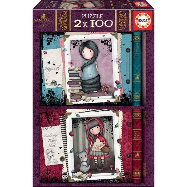 Brand EducaNum&259;r piese2x100 bucDimensiuni puzzle asamblat40 x 28 cmMaterial cartonLicen&355;&259; GorjussPersonaje Gorjuss