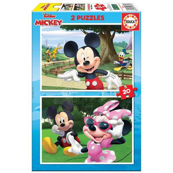 Puzzle-ul Mickey&Friendsde la produc&259;torul spaniol Educa este alegere ideal&259; pentru to&539;i copila&537;ii de la vârsta de 4 ani Pachetul con&539;ine2x20de piese din care cei mici vor ob&539;ine dou&259; imagini diferite cu personaje animate - printre ele se num&259;r&259; Mickey Mouse Minnie Donald Duck &537;i Pluto Puzzle-urile sunt realizate din carton de calitate iar piesele sunt