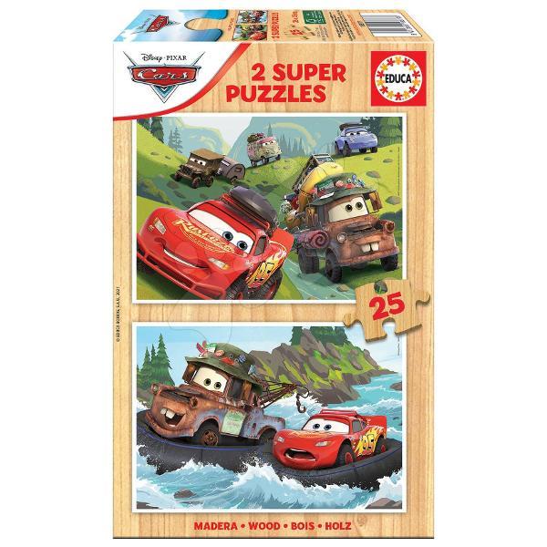Puzzle-ul din lemn pentru copii Cars 3de la produc&259;torul spaniol Educa îi va încânta pe to&539;i b&259;ie&539;ii &537;i fetele de la vârsta de 4 ani care iubesc desenele Cars 3 Ma&537;ini Imaginile prezint&259; ma&537;inile populare inclusiv ma&537;ina ro&537;ieMcQueenLightningDup&259; asamblarea puzzle-ului acesta se poate plia &537;i a&537;eza înapoi în cutie Jocul copiilor