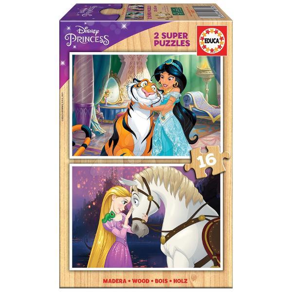 Puzzle-ul din lemn pentru copii Princess Disneyde la produc&259;torul spaniol Educa este cadoul ideal pentruto&539;i b&259;ie&539;ii &537;i fetele de la vârsta de 3 ani Pe cei mici îi a&537;teapt&259;2 imagini cuprin&539;esele Disney- cu animalele sale preferateDup&259; asamblarea puzzle-ului acesta se poate plia &537;i a&537;eza înapoi în cutie Jocul copiilor cu aceste puzzle-uri