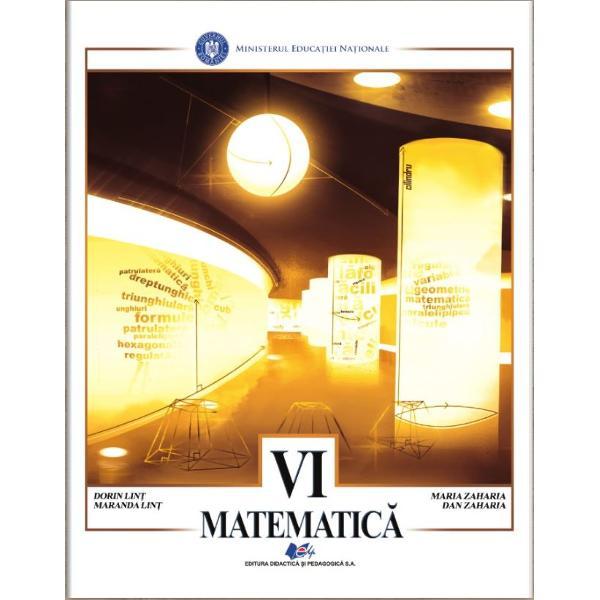 Manual matematica clasa a VI a editia 2020 ZahariaEdituraDidactica si Pedagogica