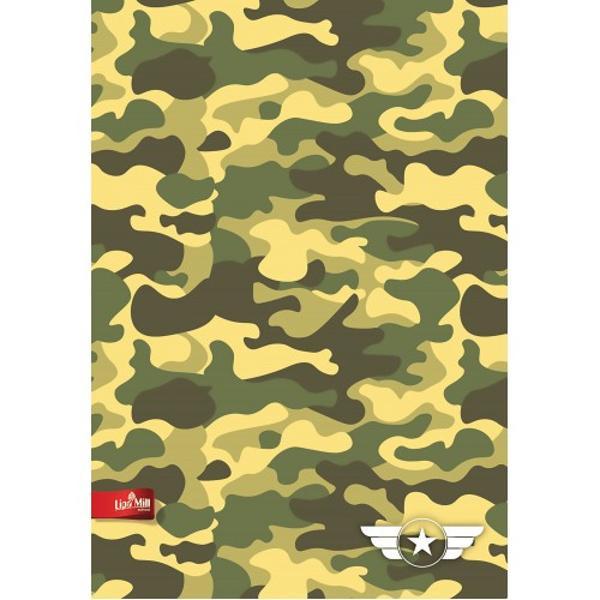 Caiet A4 matematica 40 file hartie 80g  coperta 230g Military 1211635017