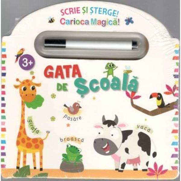 Aceasta carte este perfecta pentru ca cei mici sa invete literele numerele formele si culorile Varsta 3 Contine activitati educationale distractive