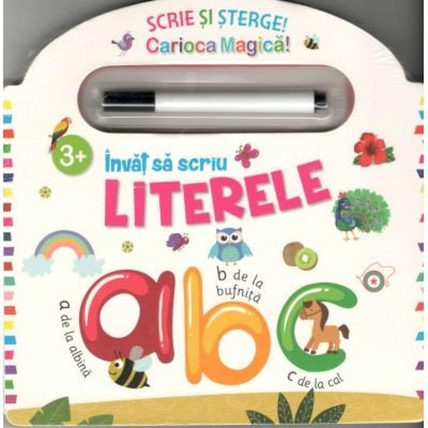 Aceasta carte este perfecta pentru ca cei mici sa invete sa scrie Varsta 3 Contine activitati educationale distractive