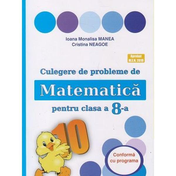 Culegere de probleme de matematica pentru clasa a VIII a editia 2021 Puisor