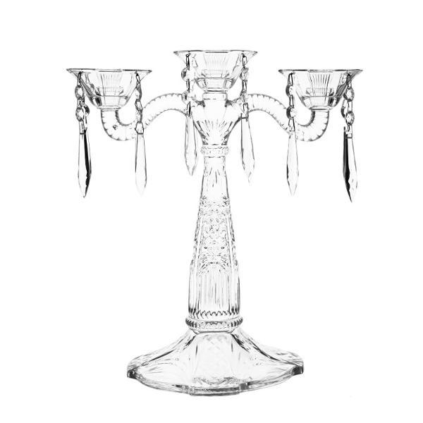 Sfesnic cu 3 brate cu ornamente cristal 315 cm 83J05315