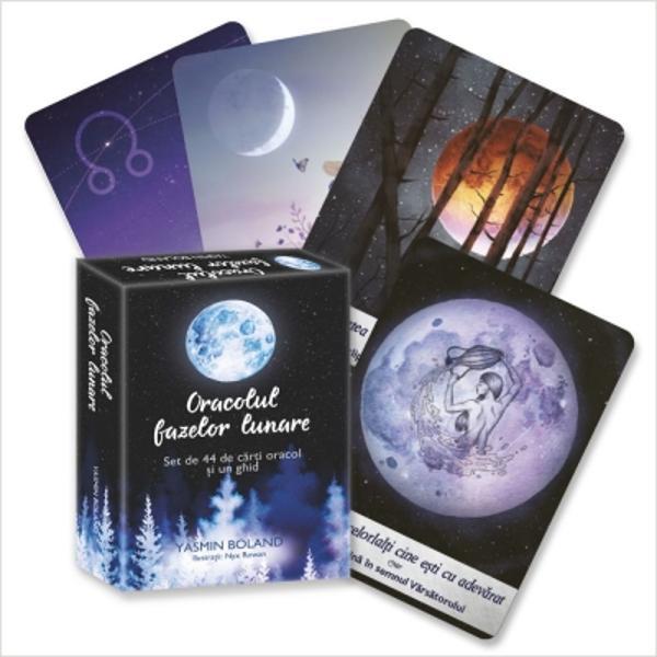 Oracolul fazelor lunare este un instrument spiritual puternic care te ajut&259; s&259; te pui la unison cu fazele Lunii &351;i s&259; manife&351;ti via&355;a pe care &355;i-o dore&351;ti Dac&259; î&355;i dore&351;ti un r&259;spuns cât mai clar la o anumit&259; întrebare folose&351;te-te de aceste c&259;r&355;i pentru a descoperi direc&355;ia în care trebuie s&259; mergi sau ce anume trebuie s&259; faci iar apoi treci la
