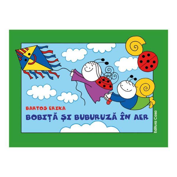 Cele dou&259; pove&537;ti cu Bobi&539;&259; &537;i Buburuz&259; dinaceast&259; carte se petrec în aerÎn prima poveste zmeul de hâtie e purtat de vânt luându-i cu el &537;i pe micii prieteni Oare cum s-aterminat zborulCea de-a doua poveste are loc noaptea când pe cer zboar&259; vr&259;jitoare Sau poate nu sunt chiar ce par a fi