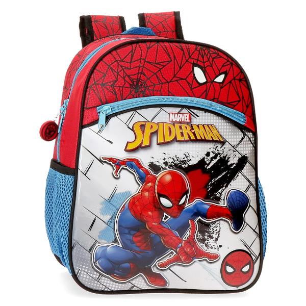 Ghiozdan scoala 42 cm Spiderman Red - bretele ajustabile  ergonomice culoare multicolor cu imprimeu personaj Spiderman 2 compartimente dimensiune 32x42x15 cm material poliester 1 buzunar frontal maner superior 2 buzunare laterale inchidere cu fermoar Las&259;-l pe Spiderman s&259;-&539;i înso&539;easc&259; copilul în zilele de &537;coal&259; sau în excursii cu aceast&259; colec&539;ie de ghiozdane genti &537;i valize Marvel Ghiozdane pentru