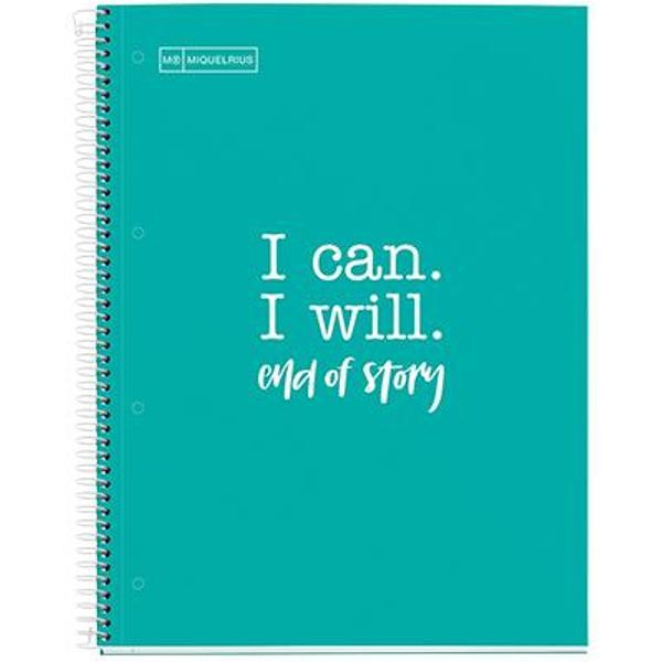 Caiet A4 80 file matematica 90gr Messages Turquoise MR46585