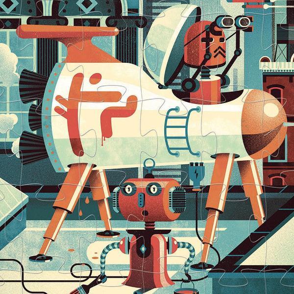 Puzzle Bob the robot 36 de piese