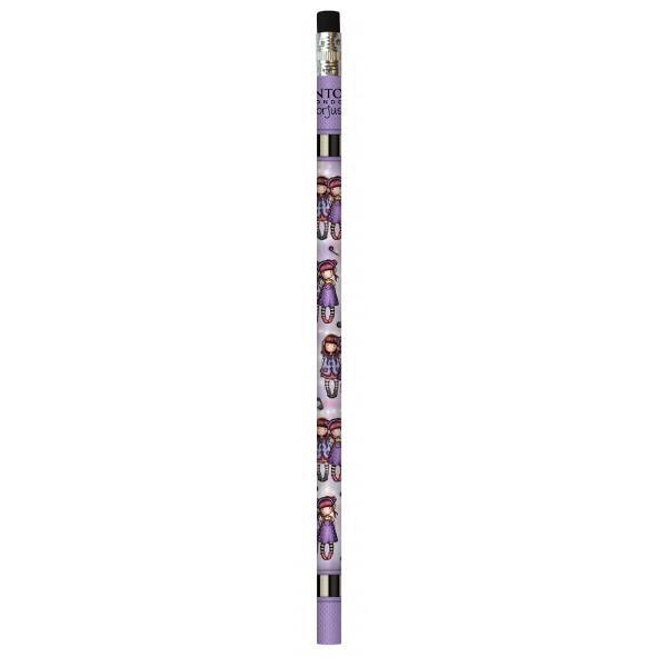 Creion parfumat Gorjuss Melodies The DuetCreionul Gorjuss Melodies The Duet se evidentiaza prin mina din grafit de buna calitate prin radiera in doua culori si parfumata si prin designul nou al personajuluiMelodies The Duet adaugat brandului GorjussCreioanele sunt instrumentele de scris nelipsite din penarul oricarui elev iar Santoro a reusit sa ne incante cu design-ul special si mirosul imbietorCreionul
