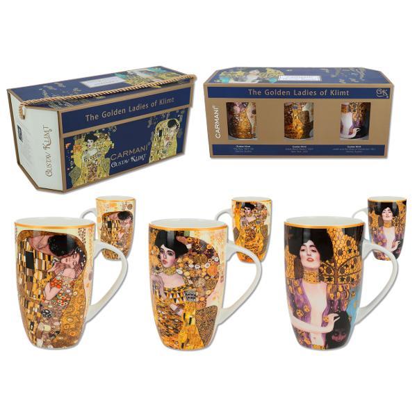 Set 3 cani Klimt - kiss adele judith 350ml 5321601