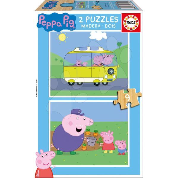 Puzzle-ul din lemn pentru copiicu motivul purcelu&537;ei veselePeppa Pigeste un puzzle frumos potrivit pentru to&539;i copiide la 3 aniFiec&259;rui copil îi place un puzzle cu motiv veselAmbalajul acestui puzzle pentru copii include un set de dou&259; imagini din seria animat&259;Peppa Pig care le plac multor copiiFiecare imagine este compus&259;