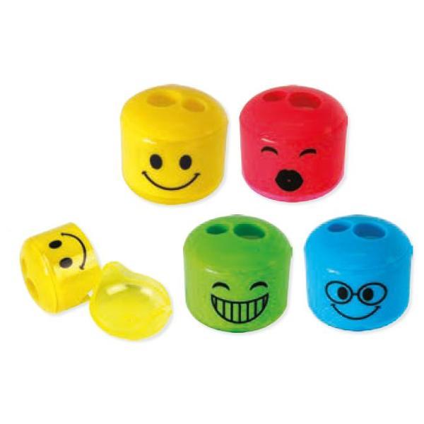 Ascutioare dubla STYLEX Smiley diverse culori 34202Pretul afisat este per bucata