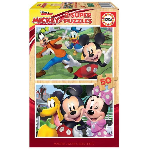 Puzzle-ul din lemn pentru copii Mickey&Friendsde la produc&259;torul spaniol Educa este cadoul ideal pentruto&539;i b&259;ie&539;ii &537;i fetele de la vârsta de 5 ani Pe cei mici îi a&537;teapt&259;2 imagini cupersonajele lor preferate Disney- Mickey Mouse Goofy Donald Duck Minnie &537;i PlutoDup&259; asamblarea puzzle-ului acesta se poate plia &537;i a&537;eza înapoi în cutie Jocul
