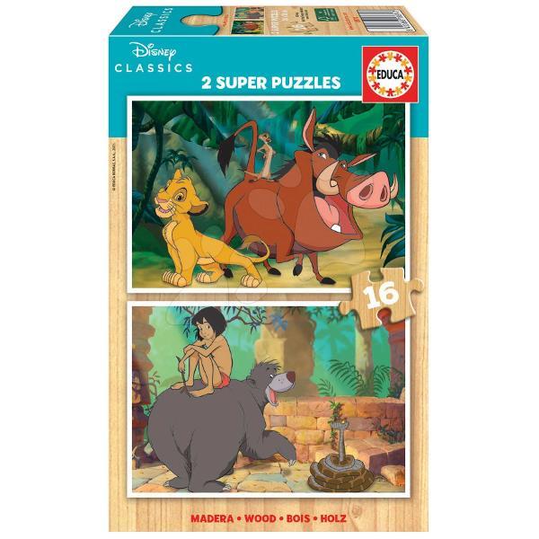 Puzzle-ul din lemn pentru copii Disney Classics Jungle Bookde la produc&259;torul spaniol Educa este cadoul ideal pentruto&539;i b&259;ie&539;ii &537;i fetele de la vârsta de 3 ani Pe cei mici îi a&537;teapt&259;2 imagini cupersonajele lor preferate Disney- Regele Leu &537;i Cartea JungleiDup&259; asamblarea puzzle-ului acesta se poate plia &537;i a&537;eza înapoi în cutie Jocul copiilor cu