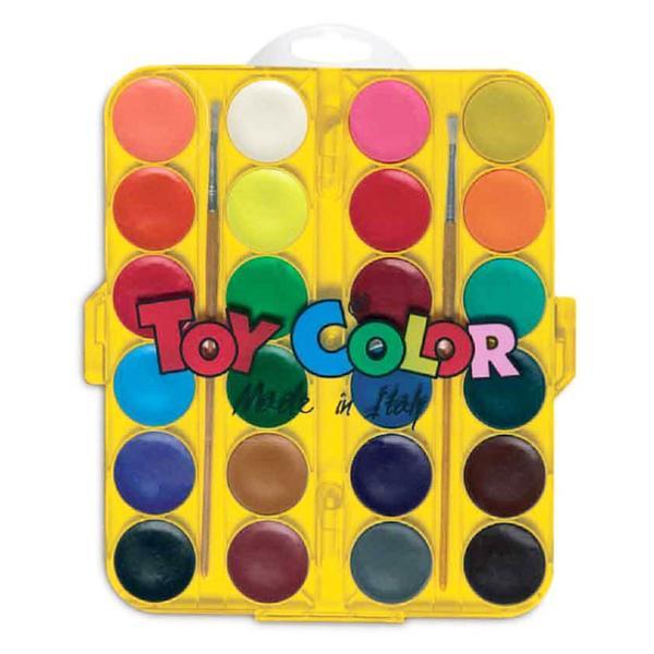 Acuarele 24culoriset  pensula Toy Color