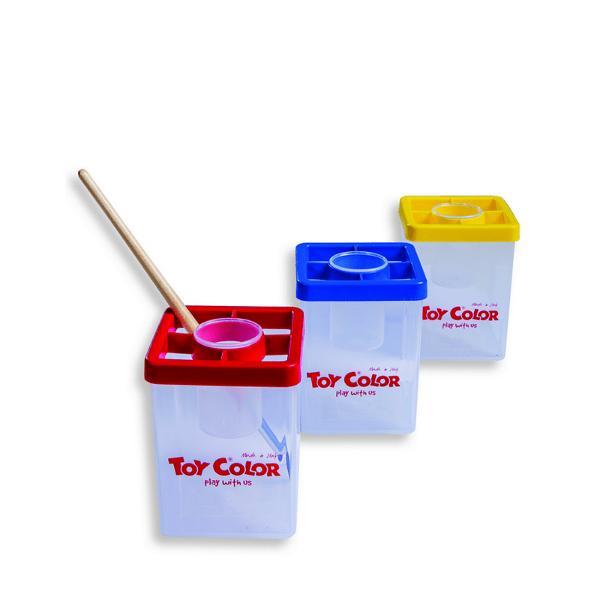 Recipient pentru ap&259; Toy Color cu capacIdeal pentru a completa setul de pictur&259;Con&539;ine suport pentru pensule &537;i recipient pentru ap&259;