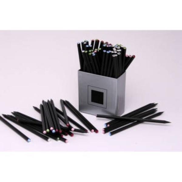 Creioane fine de lux cu cristale Swarovski Lemnul din care este fabricat creionul este tratat chimic astfel incat nu-si schimba culoarea negru chiar si dupa ascutire Mina utilizata este de calitate superioara  de tip HB O adevarata incantare atat pentru ochi cat si pentru mana