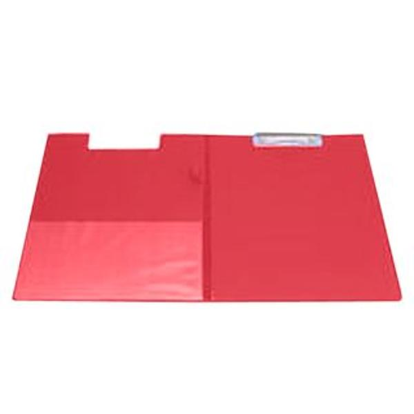 Clipboard dublu A4 pvc rosu KF01302Clipboard dublu A4 Realizat din carton gros laminat cu folie PVC de 160 microniDispune de un suport tip bucla pentru stilou sau pix si un buzunar triunghiular intern din plastic transparentCapacitate 50 coli 80