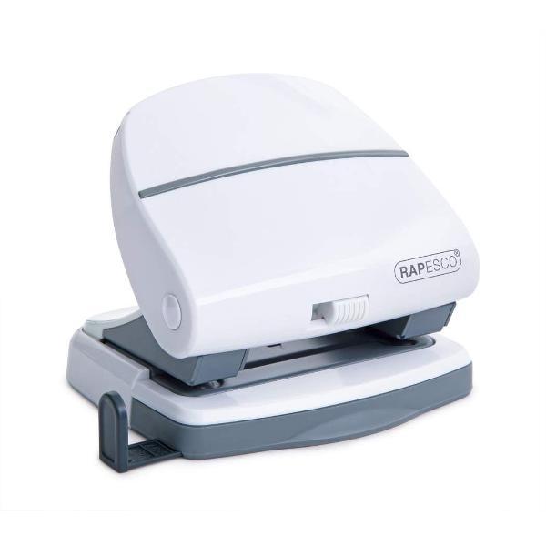 Perforator Rapesco P30 este cu 2 perforatii si cu o capacitate de perforare de 30 de coli 80 gsm Produsul prezinta maner pentru blocare tavita pentru confetti si rigla de ghidaj ajustabilaCaracteristici tehniceComponente din metal pentru o perforare durabila si fiabilaCapacitate de perforare de 30 de coli 80 gsmTavita pentru confetti ofera o golire rapida si usoaraManerul comutator pentru blocare permite o depozitare