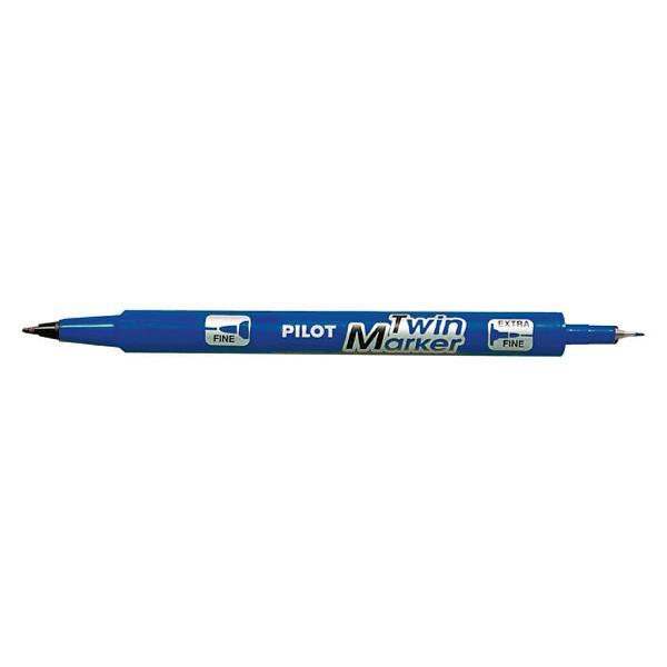 Marker permanent Pilot Twin BegreeN vârf rotund 04 mmMarkerul Twin este un marker permenent ce nu con&355;ine solven&355;i toxiciCerneala sa permanent&259; pe baz&259; de ap&259; se usuc&259; rapid &351;i este rezistent&259; la lumin&259;Cele dou&259; tipuri de vârfuri sunt foarte practice &351;i permit combinarea a dou&259; dimensiuni de scriere fin&259;