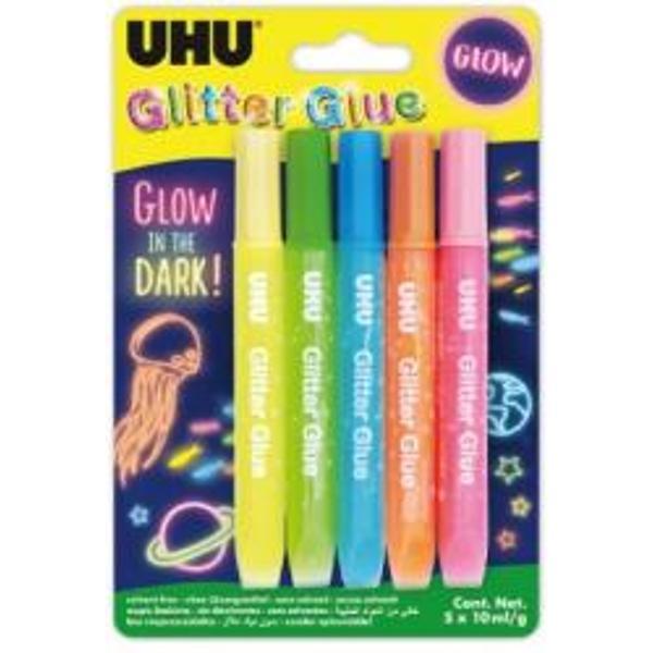 Adeziv cu sclipici Glitter Glue Fosforescent 5 x 10 ml UHU 771219Adeziv cu sclipici Glitter Glue Fosforescent 5 x 10 ml UHU UH771219Adeziv cu sclipici Glitter Glue Fosforescent 5 x 10 ml UHU UH771219Adeziv cu sclipici Glitter Glue Fosforescent 5 x 10 ml UHU UH771219