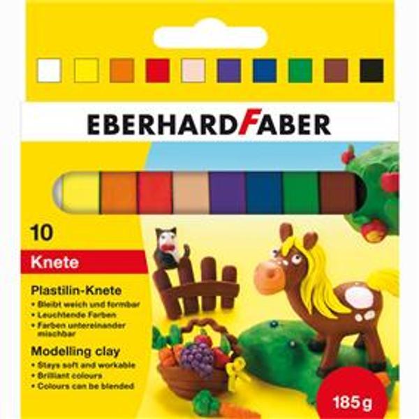 Plastilina pentru copii Usor de modelat inca de la inceputCulorile se pot combinaSet de 10 culori alb galben portocaliu rosu culoarea pielii magenta albastru verde maro negru