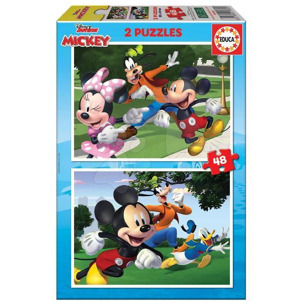 Puzzle-ul pentru copii Mickey&Friendsde la produc&259;torul spaniol Educa este cadoul ideal pentruto&539;i copila&537;ii de la vârsta de 4 ani Pachetul con&539;ine2x48 de piese care formeaz&259; dou&259; imagini diferite cu personajele animate populare ale luiMickey Mouse &537;i ale prietenilor s&259;iPuzzle-urile sunt realizate din carton de calitate iar piesele sunt pu&539;in mai mari