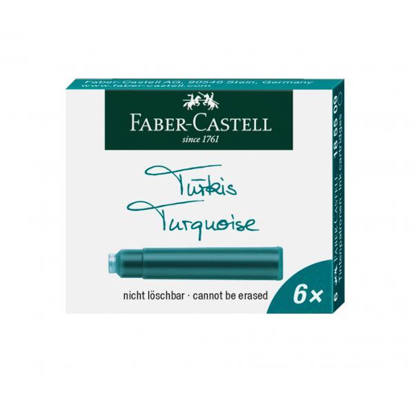 Cartuse Faber-Castell Cerneala Turcoaz 6 Buc Mici 185509