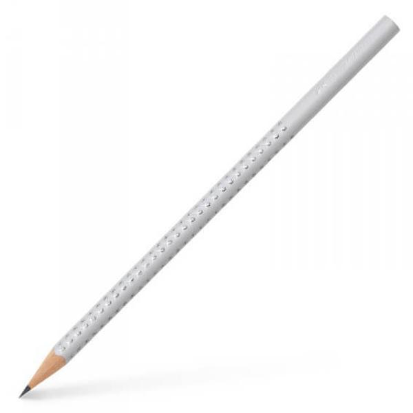 Creion Faber-Castell Grafit B Grip Sparkle Gri 118301