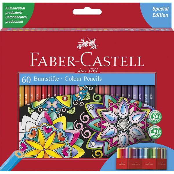 Creioane colorate hexagonale 60 culori ideale pentru carti de coloratCulori strâlucitoare lipirea speciala SV previne ruperea minei