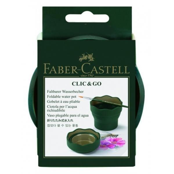Pahar Apa Faber-Castell Click & Go Verde 181520