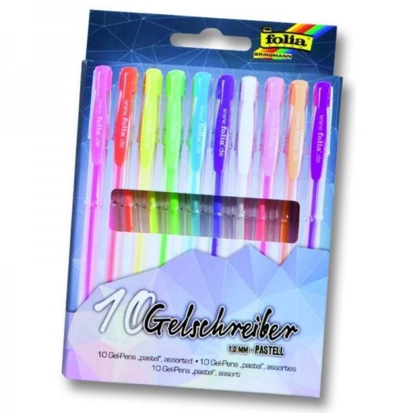 Set Pixuri Cu Gel Folia 10 Culori Pastel F1912