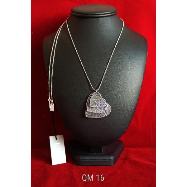 Colier zamac argintat 85cm qm16